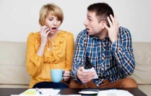 A couple check their finances and get a shock